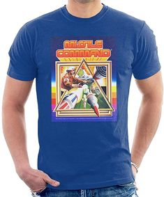 Blue Atari T-shirt for Men. Nasa Rocket, Video Game Industry, Box Art, Retro, Fashion Clothes, Mens Tops, T Shirt, Ebay, Link