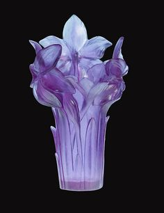 #Daum #Crystal - Amaryllis Ultraviolet #glass Vase  --trustourstyle.com--    *beautiful*