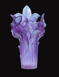 #Daum #Crystal - Amaryllis Ultraviolet #glass Vase  --trustourstyle.com--    *beautiful*