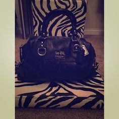 AUTHENTIC COACH MADISON LEATHER SABRINA SATCHEL Gorgeous Coach Madison Sabrina Leather  comes with 2 hang tags. This satchel bag is in excellent condition. Bag exterior features silver tone hardware with additional strap hidden at the bottom which you can unhook and use. Coach Bags Satchels