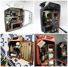 Cabinets Made Out Of Recycled Jerry Can by Danish Fuel