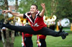 Jonathan Burkin is one of three baton twirlers in the Mighty Sound of Maryland Marching Band. The band will perform in the inaugural parade Monday. (Courtesy of Ken Rubin Photography)
