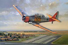 North American Harvard A flying legend - SAAF Harvard 7607 flies low over CFS… Ww2 Aircraft, Military Aircraft, South African Air Force, Aircraft Painting, Aerial Arts, Vintage Airplanes, Nose Art, Aviation Art, Military Art