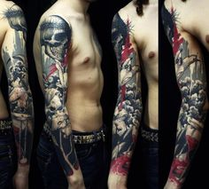 The flowers in this sleeve are awesome. Also love the red in there as well. Another one that I like