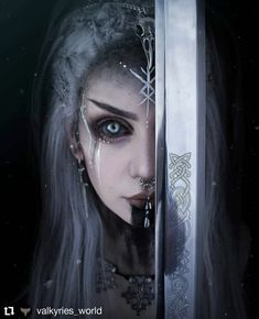 Viking Warrior Woman, Warrior Girl, Viking Makeup, Warrior Makeup, Fantasy Fighter, Candy Art, Eye Candy, Gothic Makeup, Cosplay Characters