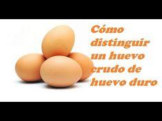 DISTINGUIR UN HUEVO DURO DE UNO CRUDO. To distinguish a hard-boiled egg ...