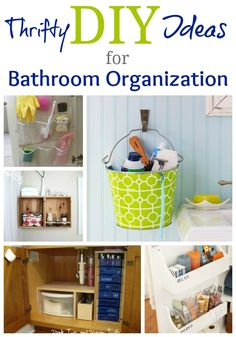 Ideas for bathroom organization.