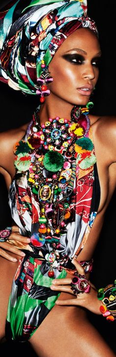 Fierce! Joan Smalls by Mario Testino