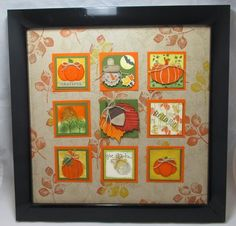 Home decor, Fall punch art, Fall Inchie Frame fun with Frenchie team more at www.frenchiestamps.com