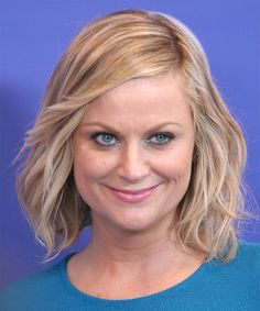 Amy Poehler Hairstyle - Casual Medium Straight. Click on image to try on this hairstyle and view styling steps!