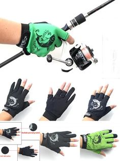 [Visit to Buy] Fishing Outdoor mountain sports glove  five and three fingers exposed rock fishing lures slip gloves #Advertisement