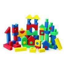 Discount School Supply - Foam Tabletop Unit Blocks - 68 Pieces