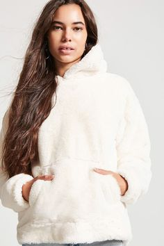 Faux Fur Oversized Hoodie - Women - Sweaters - Sweatshirts + Hoodies - 2000148201 - Forever 21 Canada English
