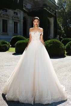 Wedding dresses Milla Nova 2016 available at Viero Bridal in Chicago and Philadelphia | lace wedding dresses | wedding dresses mesh | wedding dresses princess | wedding dresses without sleeves | wedding ballgown | Bridal dresses