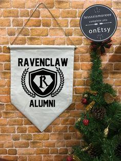 Ravenclaw Alumni Harry Potter baner flag hanging by Lessssismoreee