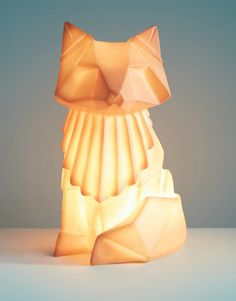Image 2 of House of Disaster Origami Fox Lamp