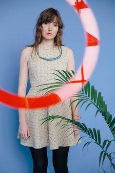 Image of Grey Grid 2014 Tennis Dress