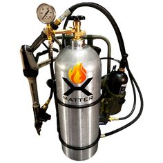 Who doesn't need a personal flamethrower? Just in time for the of July. The Personal Flamethrower from X Matter comes with everything you need to throw 50 foot flames. Bug Out Gear, Man Page, Zombie Attack, Fire Extinguisher, Guns And Ammo, Gas Station, Self Defense, Tactical Gear, Airsoft
