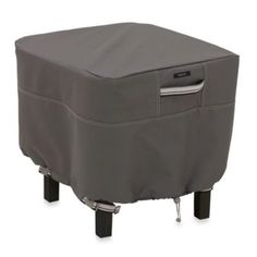 Classic™ Accessories Ravenna Square Ottoman/Side Table Cover - BedBathandBeyond.com