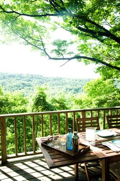 A table with a view of the Catskills. Photo: Randy Harris for The New York Times