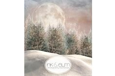 Winter Backdrop 6ft x 5ft Christmas Photography by InkAndElm