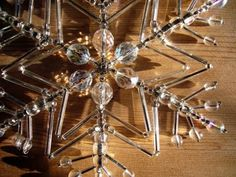 Hand Beaded Snowflake - coolio http://www.ecrafty.com/casearch.aspx?SearchTerm=snowflake
