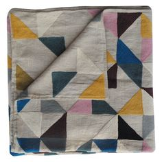 harlequin linen throw | niki jones