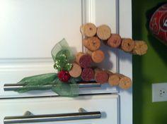 Wine cork Christmas ornament.