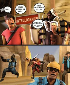 Decided to make a SFM version of this comic (sorry if it has already been made) Dorkly Comics, Tf2 Comics, Funny Comics, Tf2 Funny, Haha Funny, Funny Texts, Gamer Humor, Gaming Memes, Video Games Funny