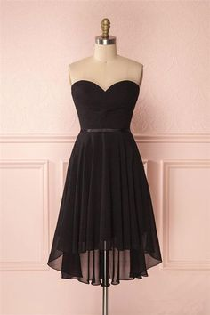 Simple Prom Dress, Prom Dress Short, Chiffon Homecoming Dress, Black Prom Dress #Simple #Prom #Dress #Chiffon #Homecoming #Black #Short Homecoming Dresses 2018