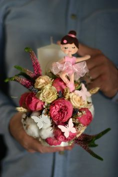 Flowers of Soul: Lumanari de botez Bouquet, Crown, Candles, Sweet, Crafts, Candy, Corona, Manualidades, Bouquet Of Flowers