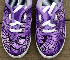 Purple Zentangle sneakers