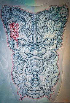 Dragon Tattoo Art, Dragon Tattoo Designs, Japanese Artwork, Japan Tattoo, Oriental Tattoo, Chicano Art, Cool Art, Stencils, Sculptures