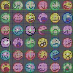 Smiley perler bead patterns by ashesamazing