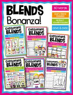 Phonics - Blends Bonanza - Consonant Blends Mega Pack