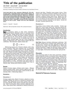 Compact Academic CvResume Template  Latex    Cv
