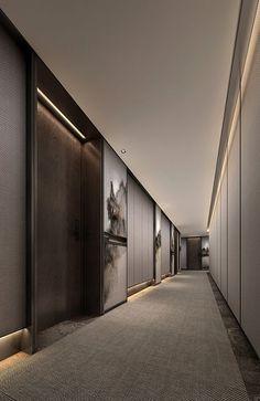 hotel corridor Astonishing Home Corridor Design For Your Home Inspiration 30 Hotel Hallway, Hotel Corridor, Hotel Lobby Design, Corredor Do Hotel, Hotel Internacional, Corridor Design, Hallway Designs, Modern Entryway, Plywood Furniture