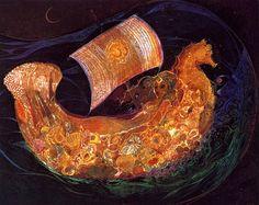 """Shell Boat"" par Susan Seddon Boulet"