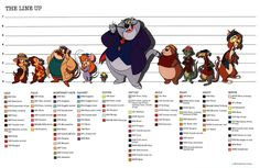Wallpapers Disney Bolt Chip N Dale Rescue Rangers Character Study Sheet Graphics Code   1024x664