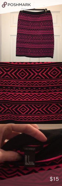 Forever 21 skirt Forever 21 sweater skirt. So cute on. Hasn't been worn much. Forever 21 Skirts Midi
