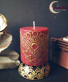 Henna Candle: Egyptian Style and Black Cherry Scented