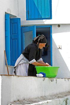 This is my Greece | Woman in Diafani village on Karpathos island