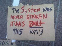 The system was never broken...