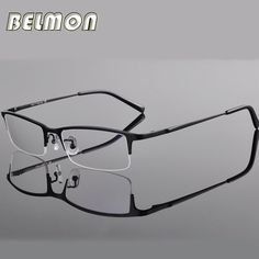 Spectacle Frame Eyeglasses Men Computer Optical Titanium Eye Glasses For Male Transparent Clear Lens Armacao Oculos de RS270