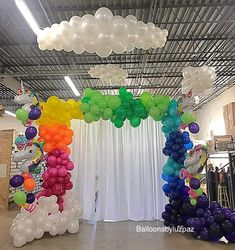 2nd Birthday Party Themes, Fiesta Theme Party, Unicorn Birthday Parties, Unicorn Party, Rainbow Parties, Rainbow Theme, Kids Party Decorations, Balloon Decorations, Rainbow Balloons