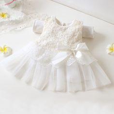 3f6da5f7ffce3 2016 Ivory Newborn baby girls baptism christening dress with headdress