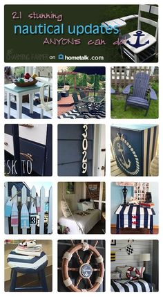 Great ways to incorporate a nautical design in your home!