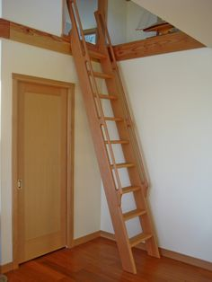 Ships Ladder to kid's loft in the Hare Guest/Office/Carriage House.