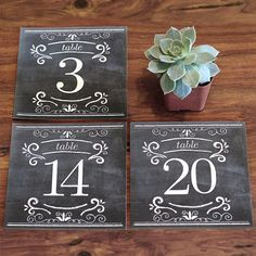Free Printables: Chalkboard Table Numbers