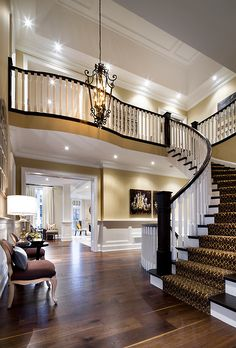 Grand entry. LOVE the carpet on the stairs.